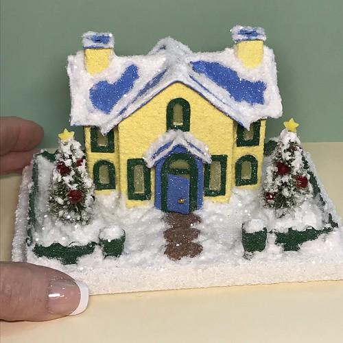 Mini Yellow and Blue Putz House