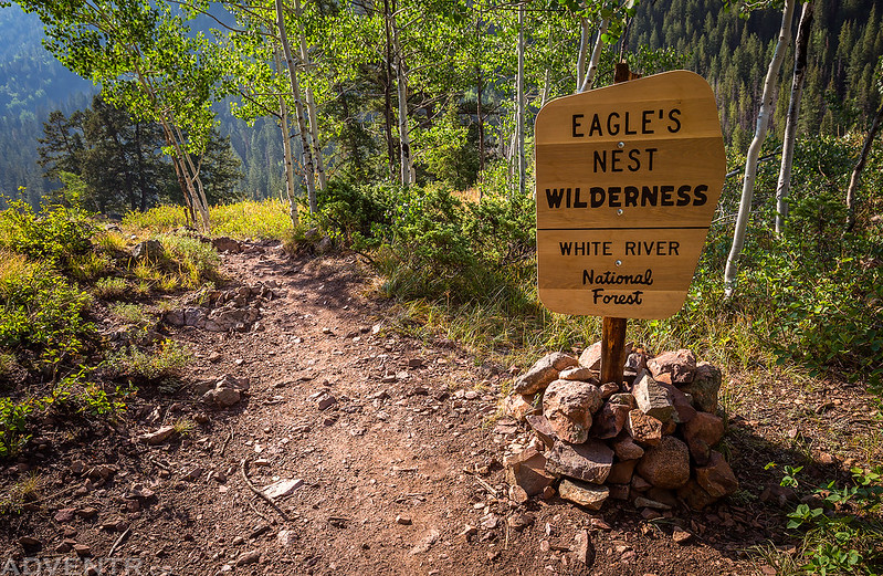 Eagles Nest Wilderness Sign