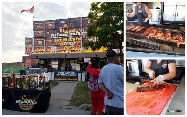 Memphis Blazin' BBQ ribs