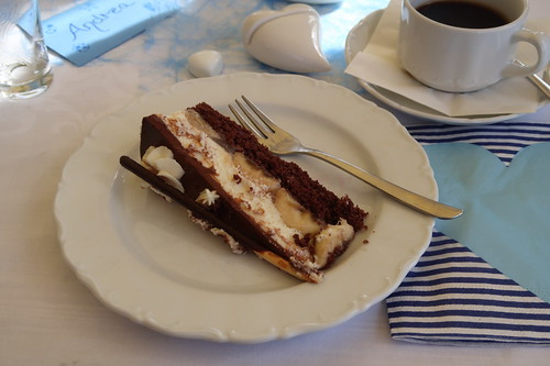Stück von der Mikado-Torte