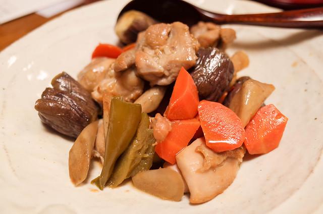 20180822夏野菜と鶏肉煮物 (2 - 3)