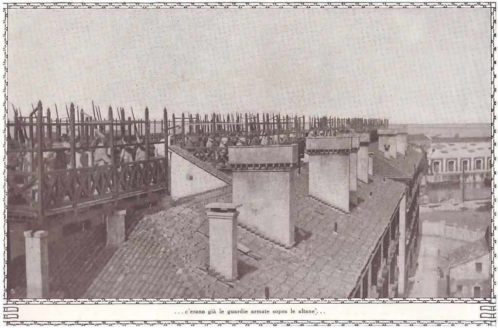 Venezia, WW1. ...c'erano già le guardie armate sopra le altane...