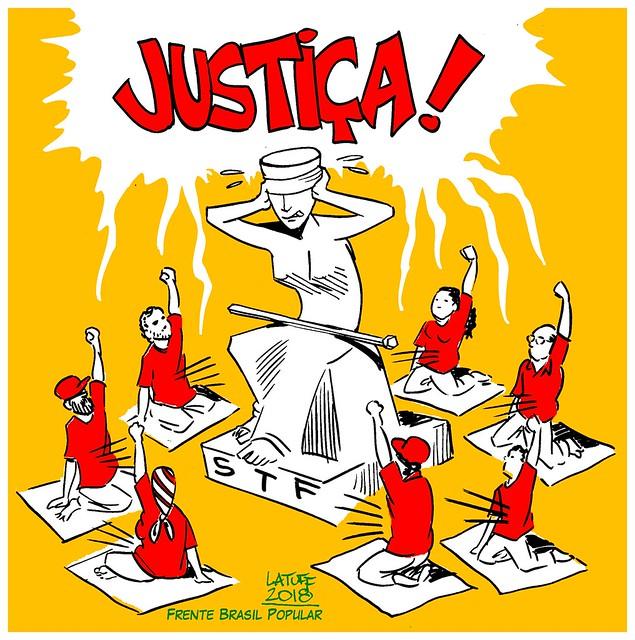 Greve de fome pede Justiça ao STF em Brasília (DF) - Créditos: Latuff