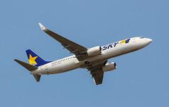 JA73AA Skymark Airlines Boeing 737-8AL@BFI 10Aug18