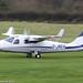 G-JRER - 2017 build Tecnam P.2006T, departing from Barton at dusk