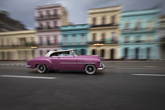 Classic car in Paseo de Marti in La Habana, Cuba
