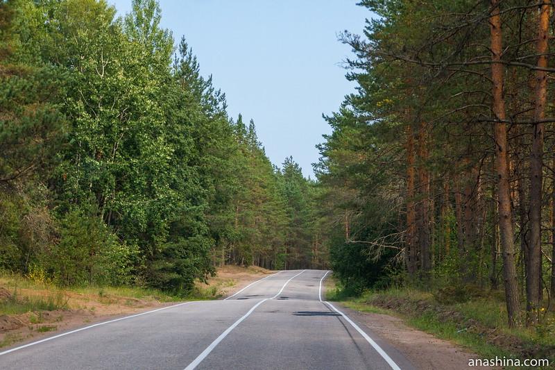 Дорога через Карельский перешеек