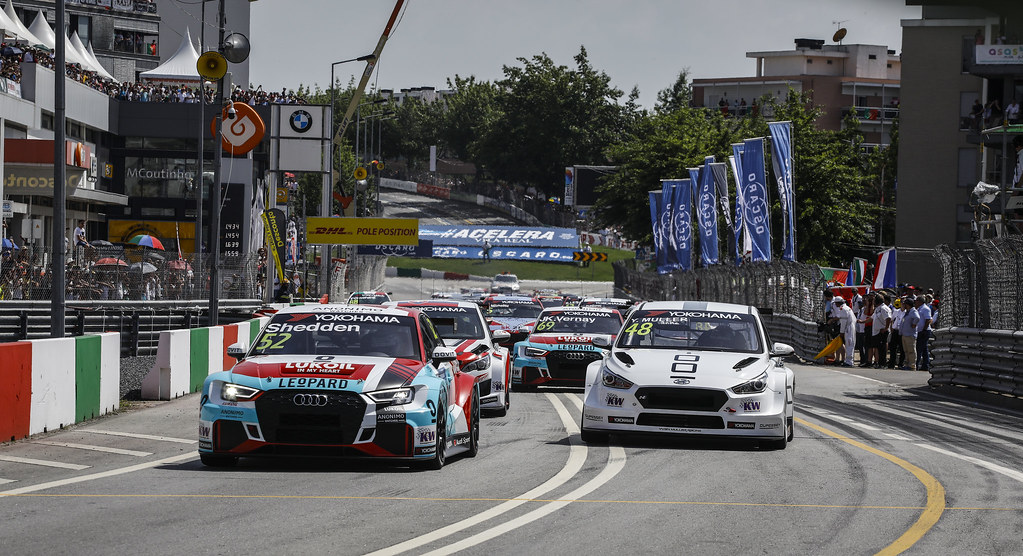 start race 2 during the 2018 FIA WTCR World Touring Car cup of Portugal, Vila Real from june 22 to 24 - Photo Francois Flamand / DPPI