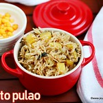 Potato pulao recipe