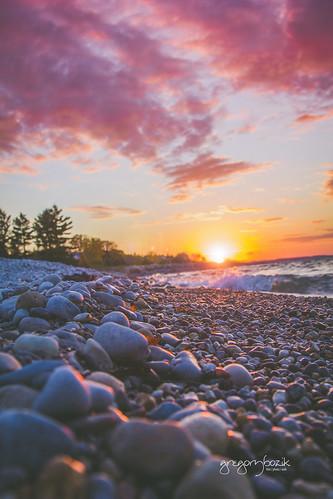 Sunset at Lake Michigan. Photographer Gregory Bozik