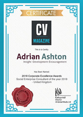 CV magazine UK Social Enterprise consultant of the year 2018
