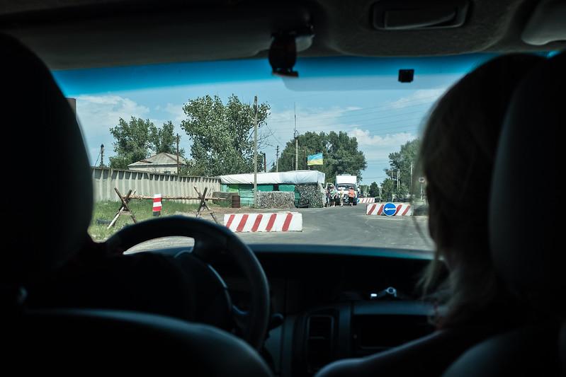 Ukrainian Checkpoint near Shchastya