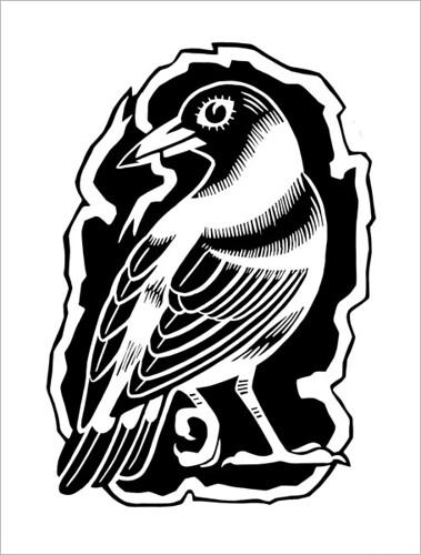 A Bird with a Ribbon / Птица с лентой