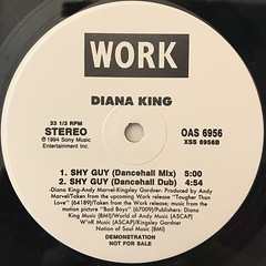 DIANA KING:SHY GUY(DANCEHALL MIX)(LABEL SIDE-A)