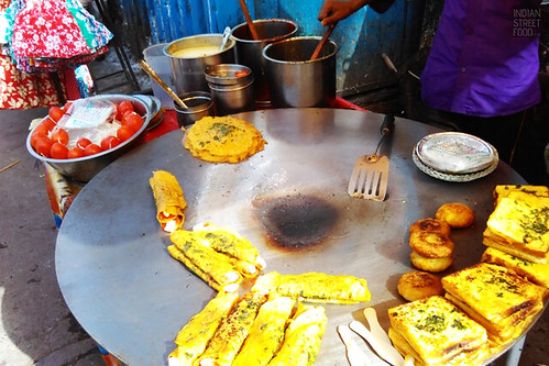 Chilla-Bread at Chandani Chowk Stall