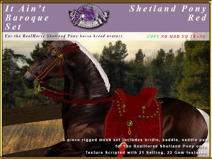 E-RH-ShetlandPony-ItAintBaroqueSet-Red - TeleportHub.com Live!