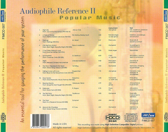 Fshare] - VA - Audiophile Reference II, Popular Music (2003