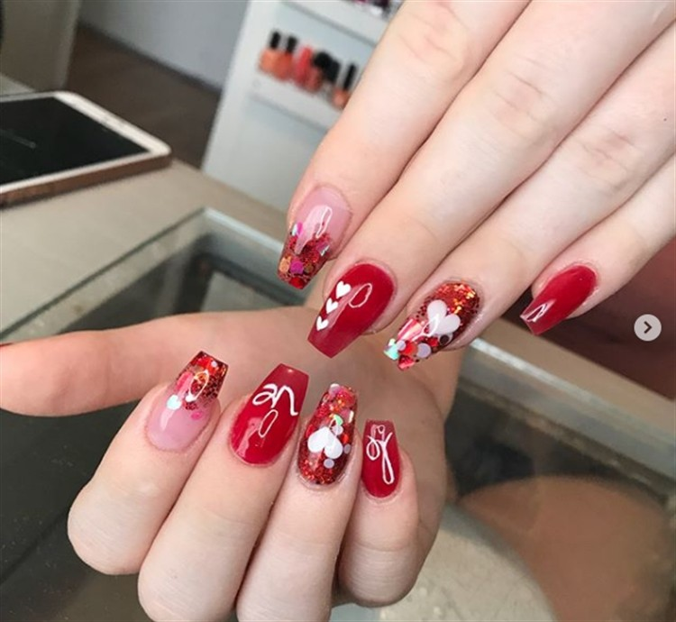 30+Pretty Red Acrylic Nail Art Design Ideas - 30+Pretty Red Acrylic Nail Art Design Ideas - Fashonails