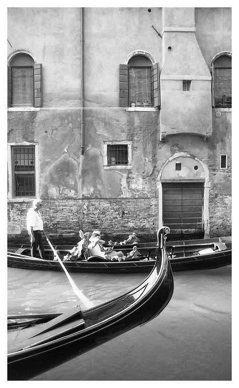 Gondola racing. Venice