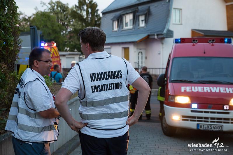 Gasaustritt Krankenhaus Rüdesheim 11.08.18