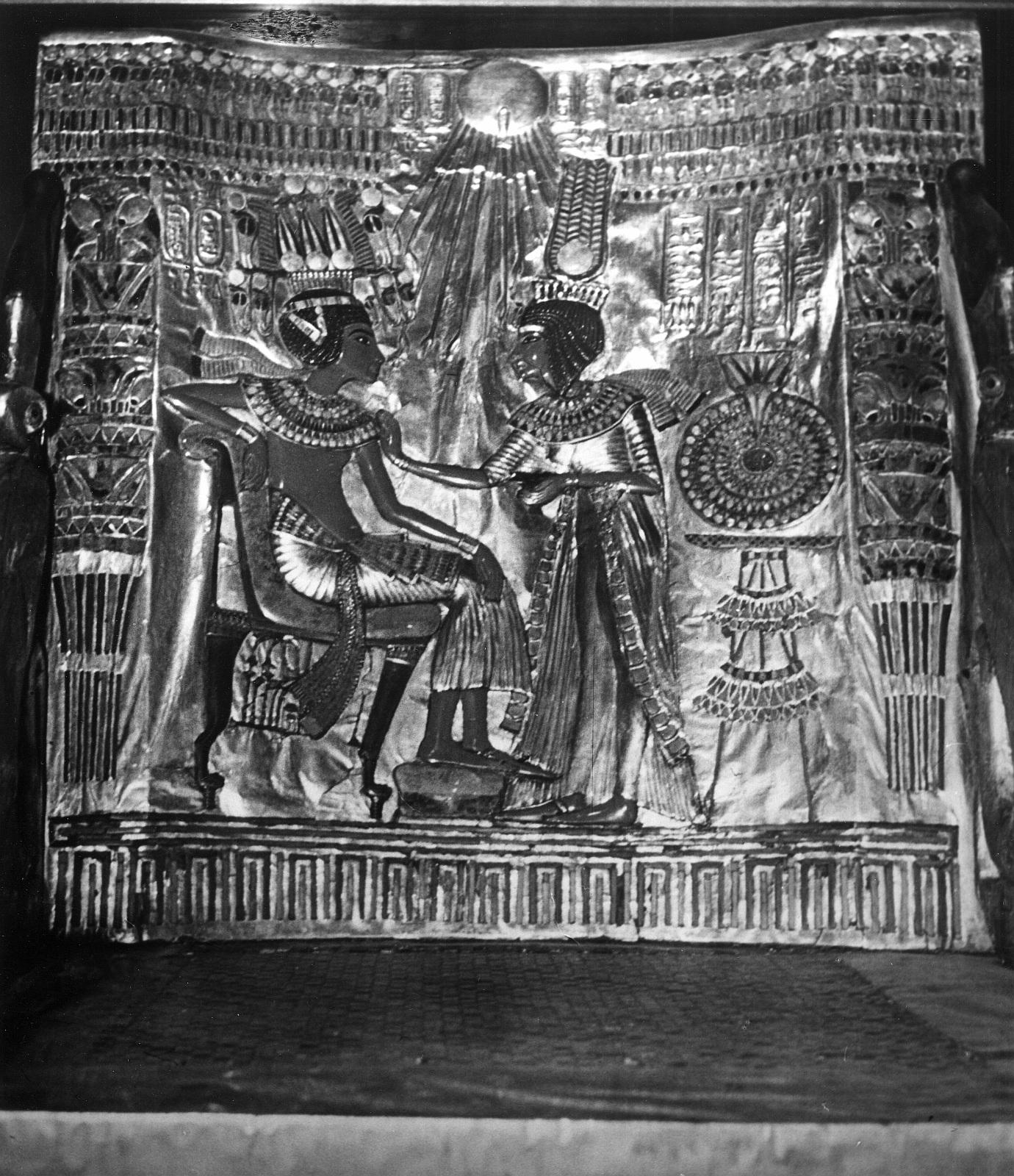 Каирский музей. Трон Тутанхамона