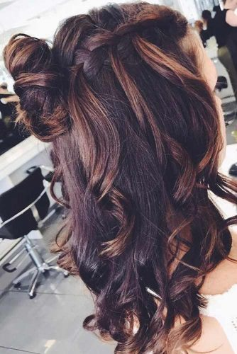 Waterfall Braids for Brown-Haired Girls