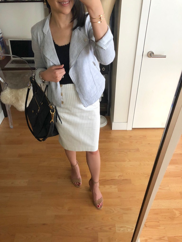 How To Style A Linen Moto Jacket