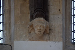 lady in a kennel headdress (roof corbel, 15th Century)