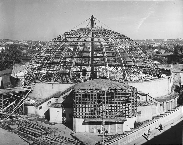 1963-завершение каркаса купола