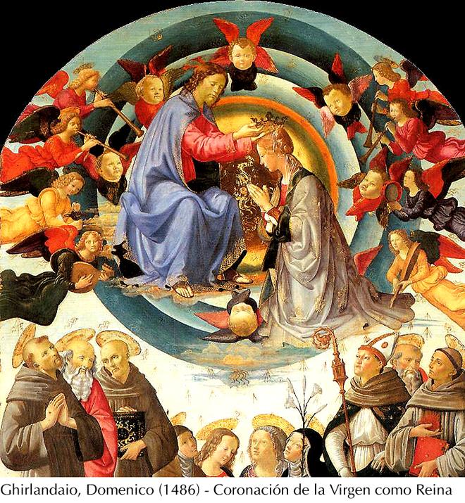 Ghirlandaio, Domenico -1486- Coronación de María