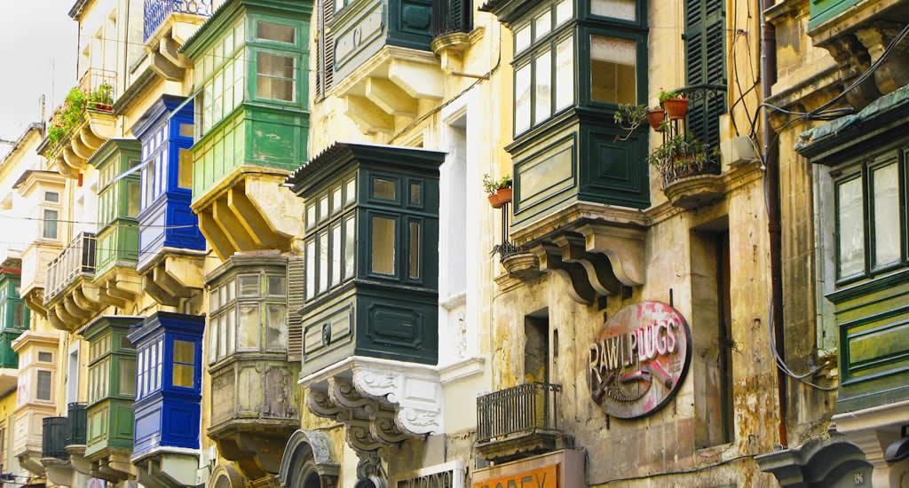 De kleurrijke balkons van Valletta | Malta & Gozo