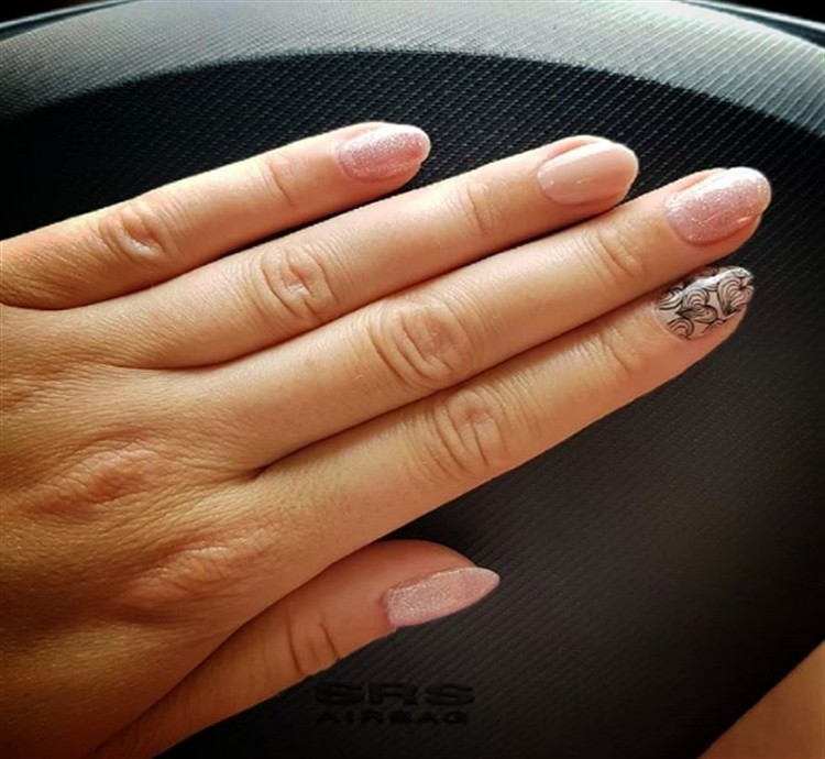 glitter and pink nails - top gallery