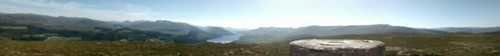 Panorama at Trig point facing west. Loch Laggan centre | by Seal54
