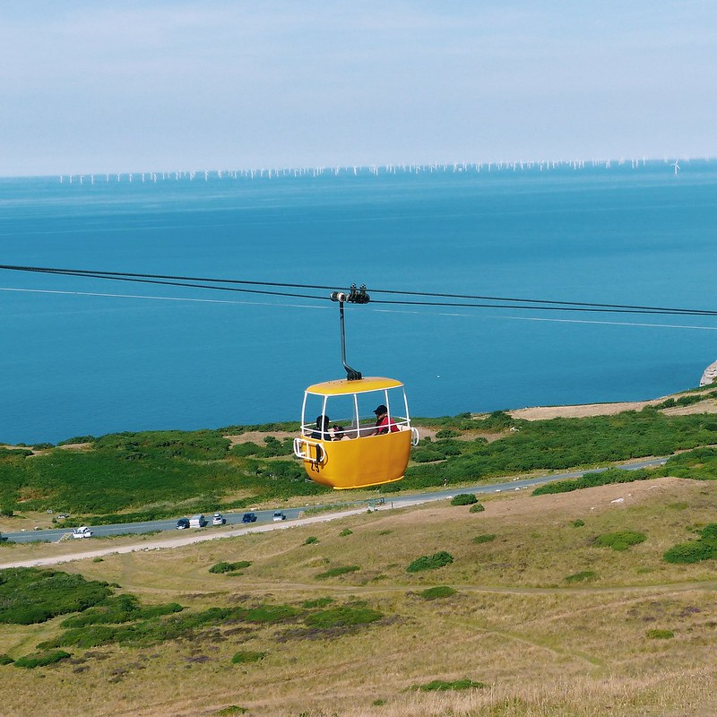 This is a picture of the Llandudno cable cars