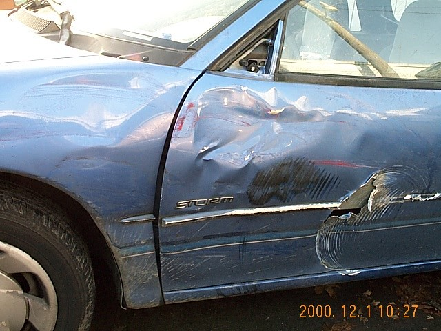 The left side of my Geo Storm (after accident)