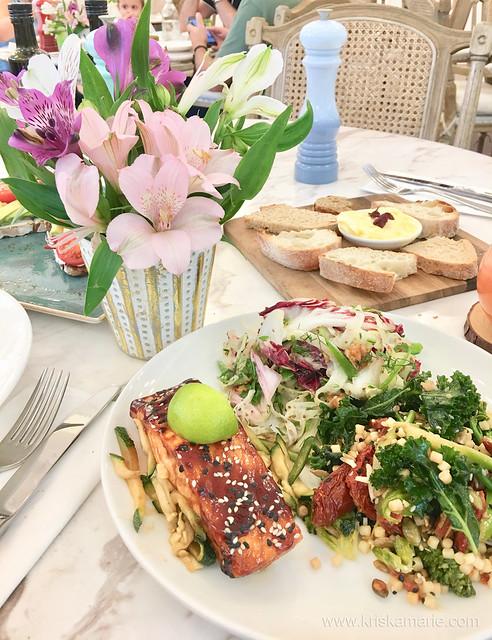 Teriyaki Salmon and Salads from L'eto Caffe