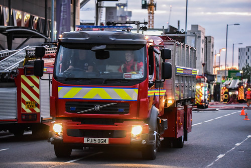 Commercial building fire Ardwick