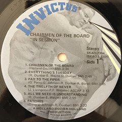 CHAIRMEN OF THE BOARD:IN SESSION(LABEL SIDE-A)