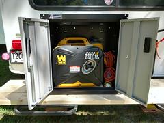 Generator Shelf and Cabinet