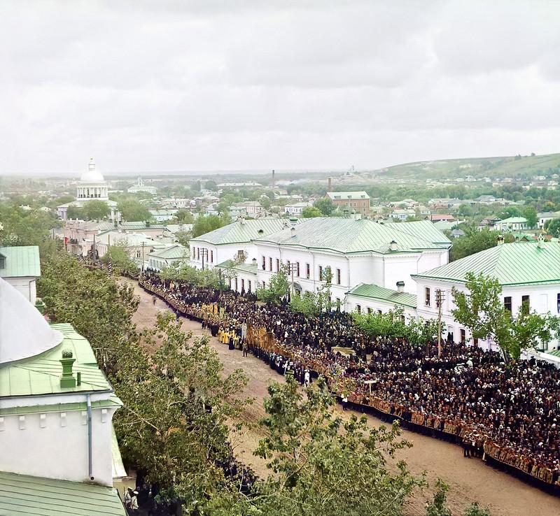 Торжества канонизации Свт. Иосафа Белгородского на Соборной площади Белгорода 4 сентября 1911 года