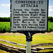 Bentonville Battlefield NC 2018, Confederate attacks marker