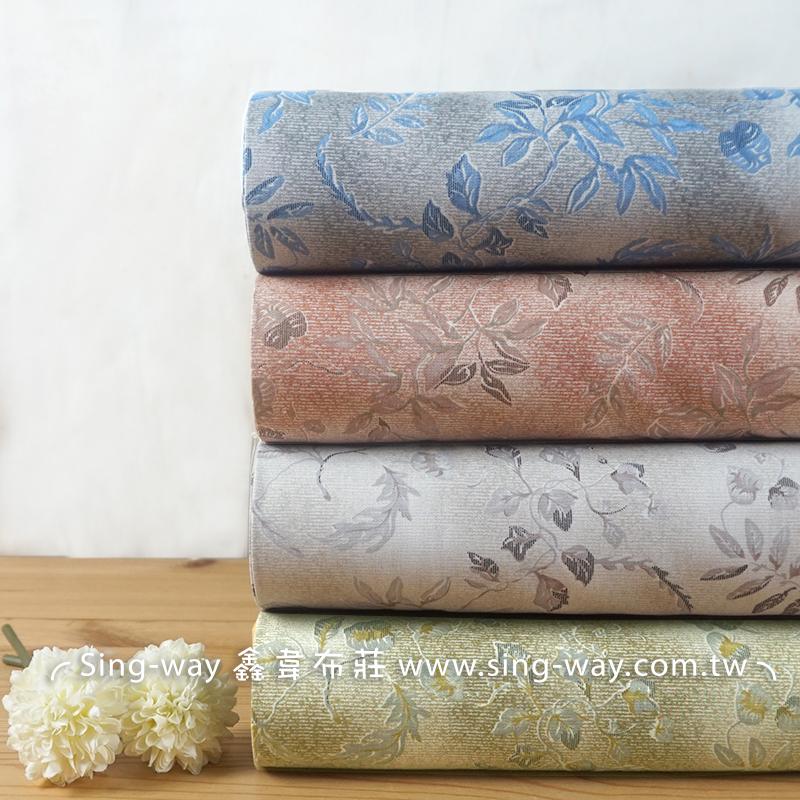 樹葉 大自然 大地風 針葉 植物 密集 長裙 連身裙 手工藝布料 CA450752
