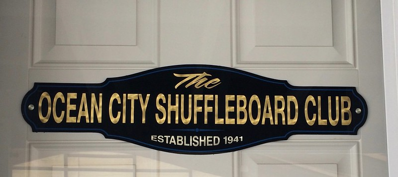 Ocean City Shuffleboard Club - Ocean City New Jersey Retro Roadmap 2018