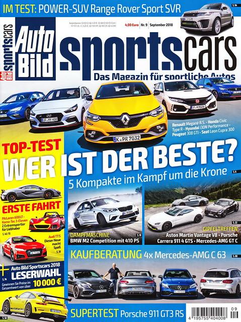 Auto Bild Sportscars 9/2018