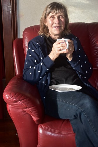 Jill Weaver with a morning cup of tea 14 August 2018
