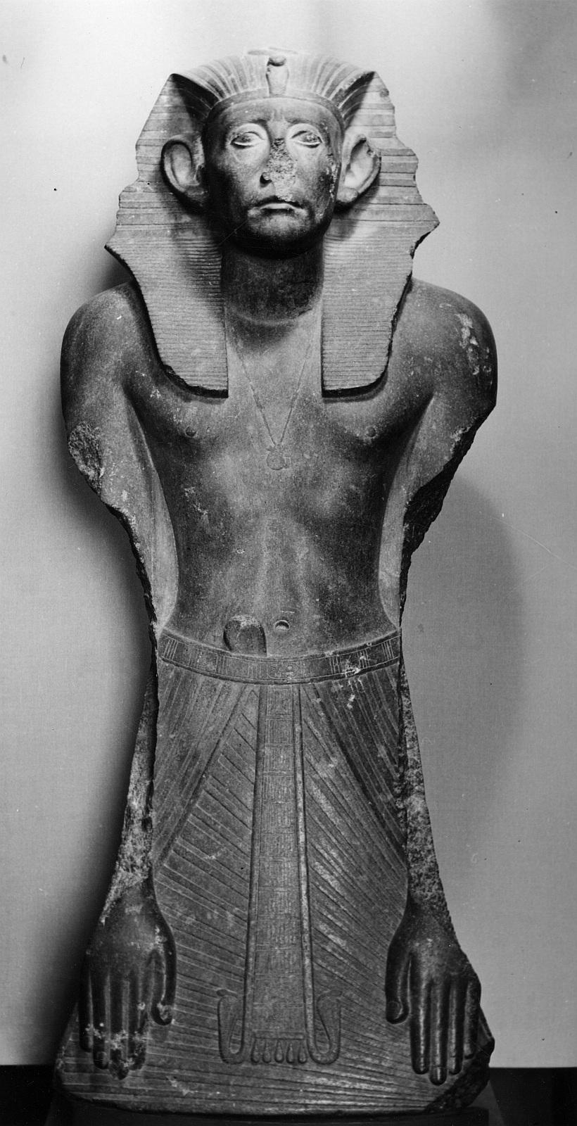 Каирский музей. Статуя Сенусерта III