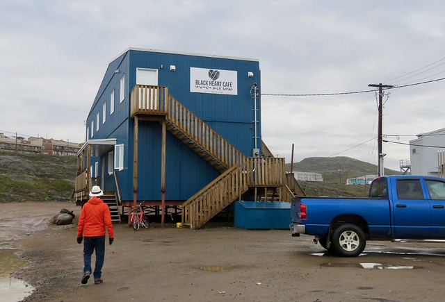 Day 3 - We start the day with breakfast at the Black Heart Cafe - a recent edition to Iqaluit's food scene