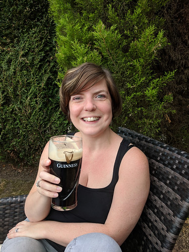 drinking a Guinness