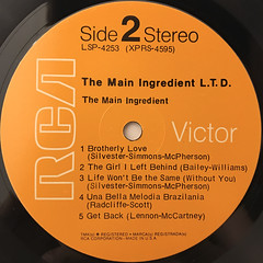 THE MAIN INGREDIENT:L.T.D.(LABEL SIDE-B)
