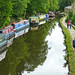 Barges on the Rochdale Canal.